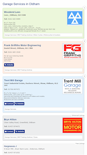 Example Premium Listings