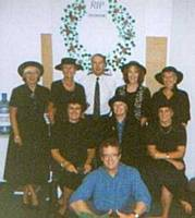 The last remaining staff on the Oldham site before it closed.  Barbara Brierley, Barbara Collier, Trevor Jepson, Norma Wilson, Eileen Molyneux, Elaine Murchie, Val Kenyon, Linda Bailey, Geoff Smith.