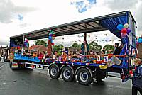 One of the floats parades through Failsworth