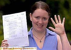GIVE me five . . . Our Lady�s High School student Rachel Lamb scored five A-grades to make her results among the best in the borough. See tomorrow�s Chronicle for the full round up of Our Lady�s results