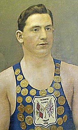 STILL the best . . . Chadderton's Henry Taylor won three golds a century ago