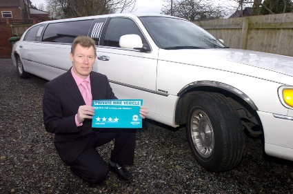 FOUR star service . . . John Flint, of Lady Jayne Limousines