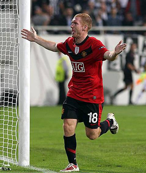 MANCHESTER United star Paul Scholes turned down the chance to come out of international retirement to play in this summer's World Cup in South Africa. Picture: Nick Potts/PA Wire.