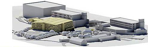 AN artist's impression of the planned expansion at the JD Williams site in Beal Lane, Shaw
