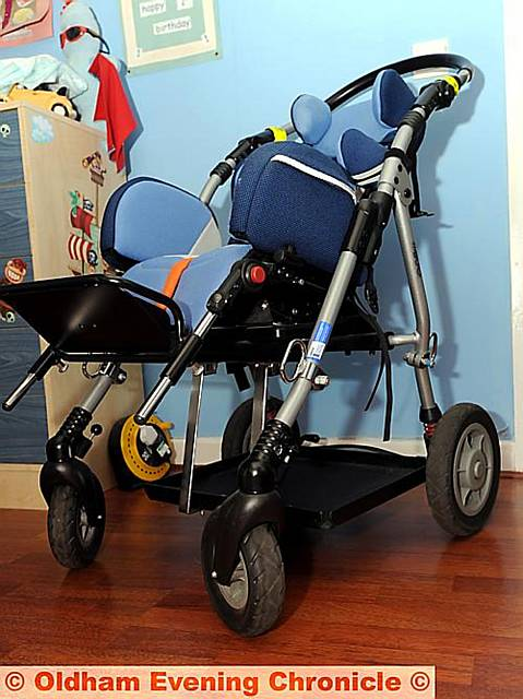 Aaron's buggy — now too small to use