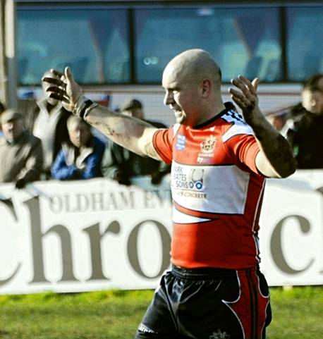 TON-UP TARGET . . . Roughyeds captain Neil Roden is one away from scoring 100 tries for the new club.