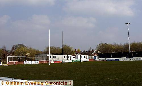 ALL change . . . Oldham�s six temporary buildings will be situated between the clubhouse and the pitch