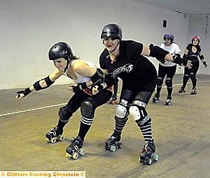 Welcome to the Thunder Dome ACTION is spiced with glamour as the fiercely competitive sport of roller derby rolls into Oldham.