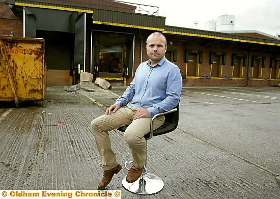 Ryan Lee of Lakeland Furniture at the former bakery site