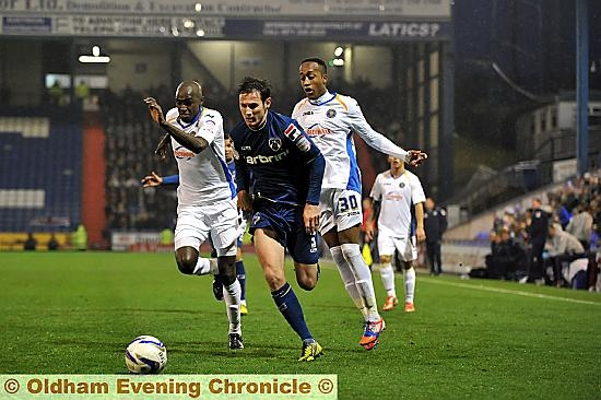 ATHLETIC�S goal hero Jonathan Grounds shows his Shrewsbury rivals a clean pair of heels.