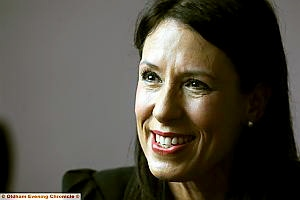 ALL smiles: Debbie Abrahams MP. Picture by DARREN ROBINSON