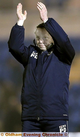 PAUL DICKOV . . . the Athletic boss has stressed the importance of hard graft and not allowing the opposition to settle.