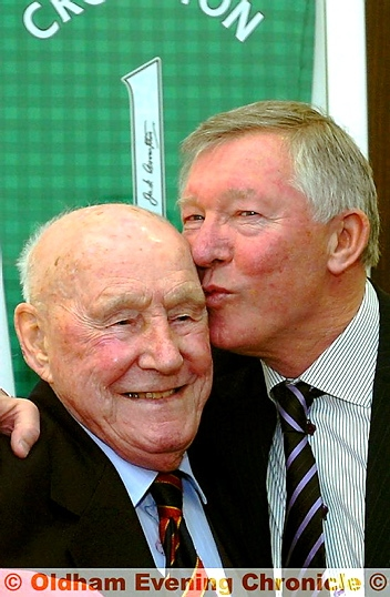 LEGENDS: Jack Crompton and Sir Alex. Picture: ANTHONY MILLER