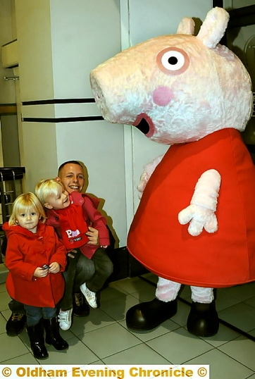 TV favourite: Peppa Pig meets her fans.
