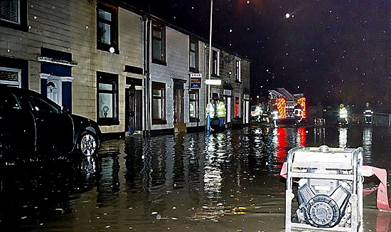 FLOODED out . . . Smallbrook Road captured by Chronicle reader Malcolm Journeaux