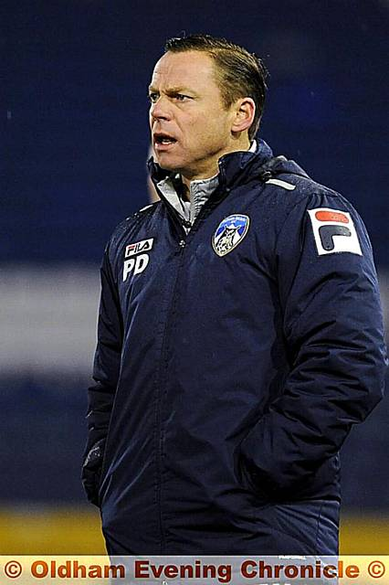 Paul Dickov: hoping for lots of points for Christmas