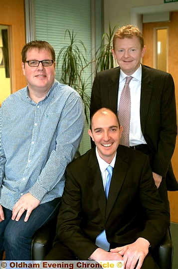 NEW venture: 4D Enterprises� Patrick Mellor (managing director), Steve Bottomley (commercial director) and Mike Braddock (chairman)
