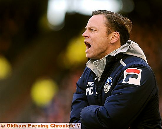 Paul Dickov: urging his team on