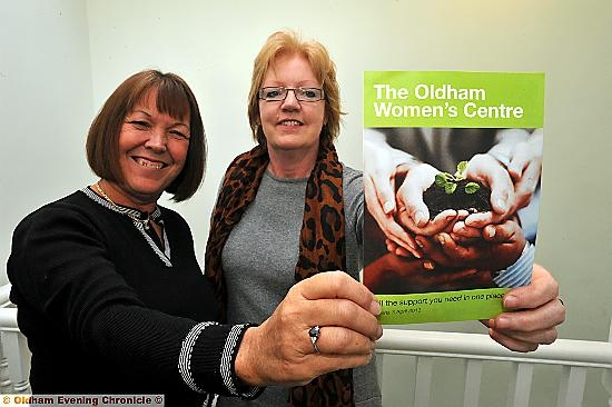 TRANSFORMING lives: Janet Sewart (left), Oldham Council�s head of Drug and Alcohol Action Team, and Councillor Susan Dearden