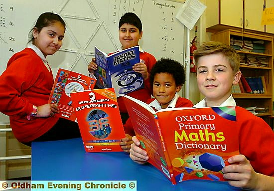 IT all adds up for (from left) Zaynab Khalid, Daanyaal Hussain, Cameron Husselbury and Kieran O�Reilly