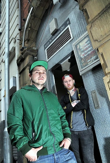 Business partners Mike Williamson (left) and Chris Satchell are opening a new live music venue Basement Live, formerly The Lounge, in Union Street