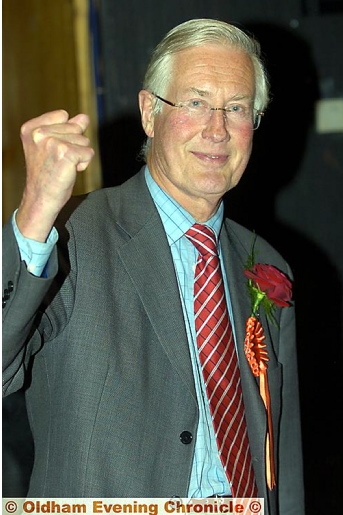 MICHAEL MEACHER at the General Election vote count at the QE Hall in 2007
