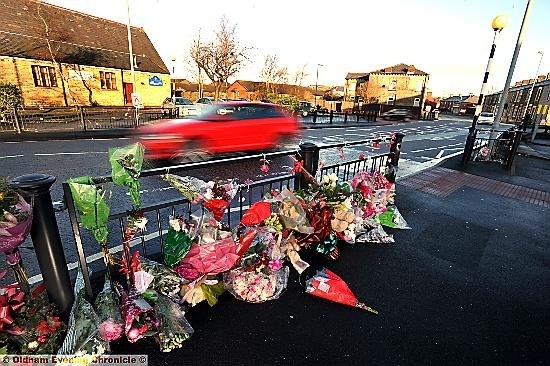 NOTORIOUS . . . the Milnrow Road crossing where Annalise Holt was killed