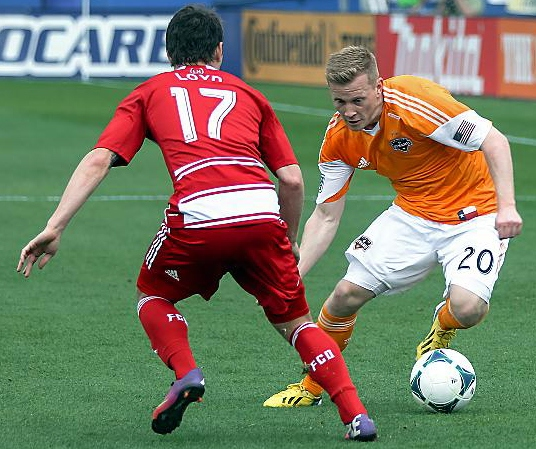 OLDHAM-born Andy Driver, pictured here for Houston Dynamo but currently a free agent.