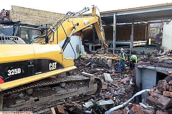 FAREWELL . . . Royton Assembly Hall has been demolished