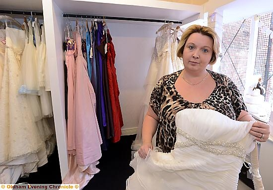 c3ba307c7a Owner Jacqui Dijon at the Bespoke Bridal Boutique in Failsworth burgled  before it had even opened