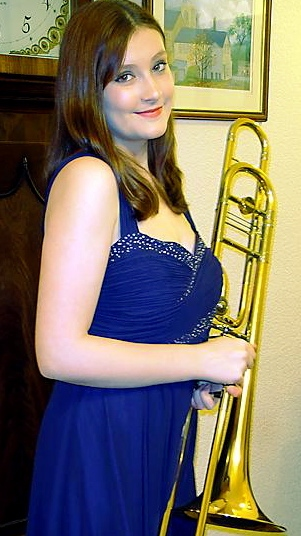 PRESTIGIOUS . . trombonist Ellena Newton (14) will perform on BBC TV in the brass final of �Young Musician of the Year�