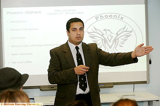 Phoenix Free School project co-ordinator Affan Burki