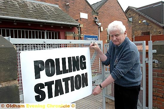 AT THE POLLS . . . could we see police posted to help stamp out electoral fraud?