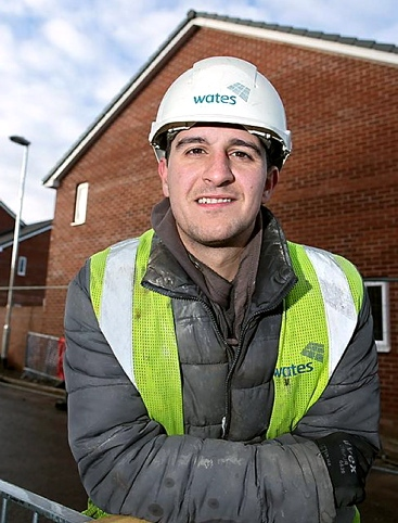 HARD work pays off... Wates trainee of the year Danny Greg