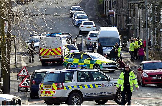 EMERGENCY vehicles at the scene of the incident in Ripponden Road. Picture by reader Councillor Alan Roughley