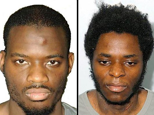 KILLERS Michael Adebolajo (left) and Michael Adebowale
