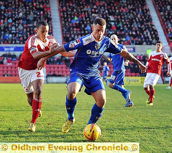 Jonson Clarke-Harris, in action against Swindon