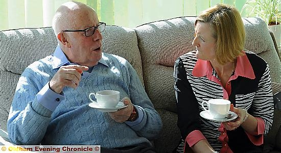 Star actor Richard Wilson visits Siobhan at Dr Kershaws