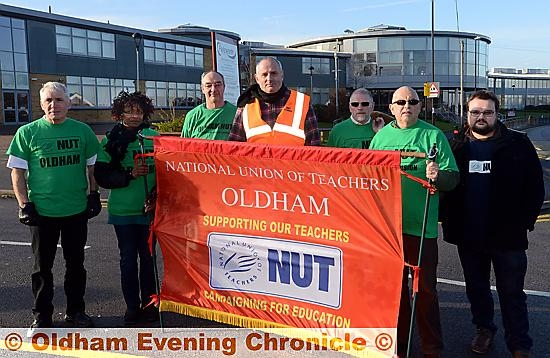 Union members at Failsworth School.