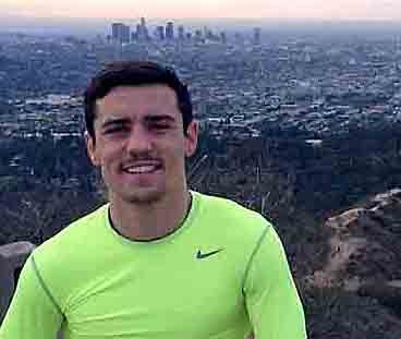 TIME OUT . . . Anthony Crolla takes a break following a training run in Griffith Park, Hollywood.