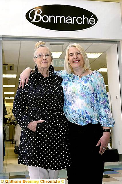 RECOGNITION: Doreen Crook was nominated for an award by her daughter Claire Barrow and was named the Oldham winner of a Mother�s Day competition, run by Bon Marche