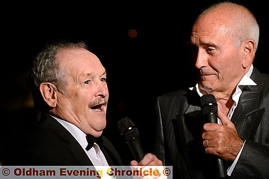 Tommy Cannon and Bobby Ball in full comic flow
