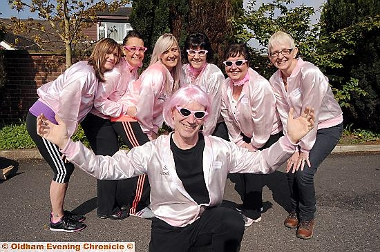 THIS happy band of walkers was tickled pink to stride out for a great cause. Pictured are Robert McDonald, front, with Debbie Clough, (rear, l-r) Jackie Backhouse, Sara Clough, Helen Kostyk, Ruth McDonald and Christine Colton.
