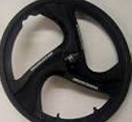 A WHEEL similar to those on one of the bikes used by the robbers