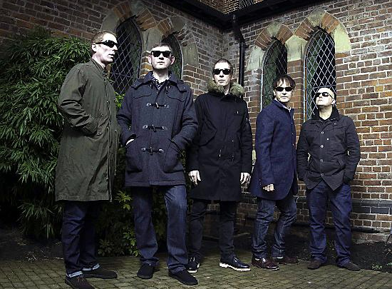 Inspiral Carpets (l-r): Craig Gill, Steve Holt, Clint Boon, Graham Lambert and Martyn Walsh.