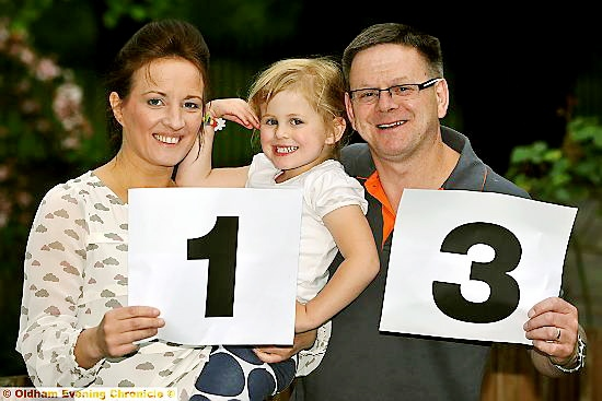 RECURRING number: 13 hasn�t proved unlucky for John and Claire Markwick and their daughter Mollie.