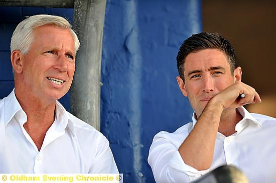 Alan Pardew and Lee Johnson