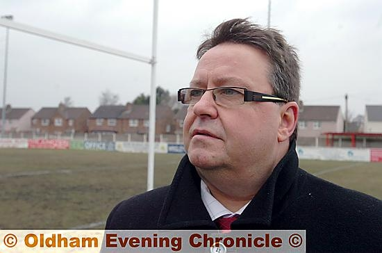 Despairing... Oldham Rugby League chairman Chris Hamilton.
