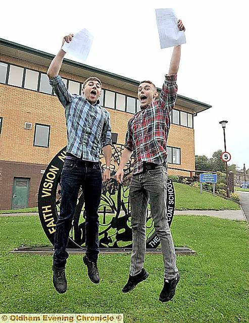 BEST pals Harvey Jones and Zac Keane are inseparable — they got the same A-level results in the same subjects and will be heading to Oxford University together to study the same course.