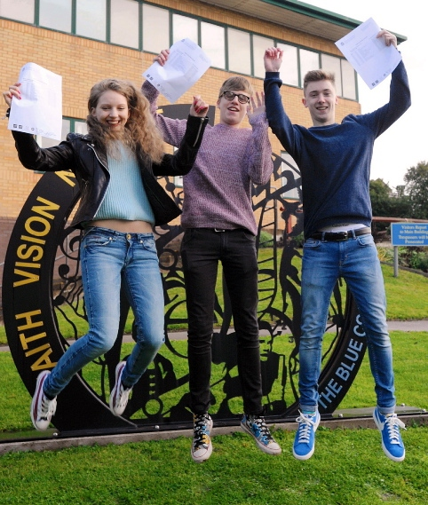 WHAT a result! Blue Coat School pupils Phillippa Nightingale, Paul Peters and Daniel McLoughlin were jumping for joy this morning after scooping 11 A* in their GCSEs. Daniel has actually gone one better � he achieved an A* grade at A-level maths last week after taking the subject early!